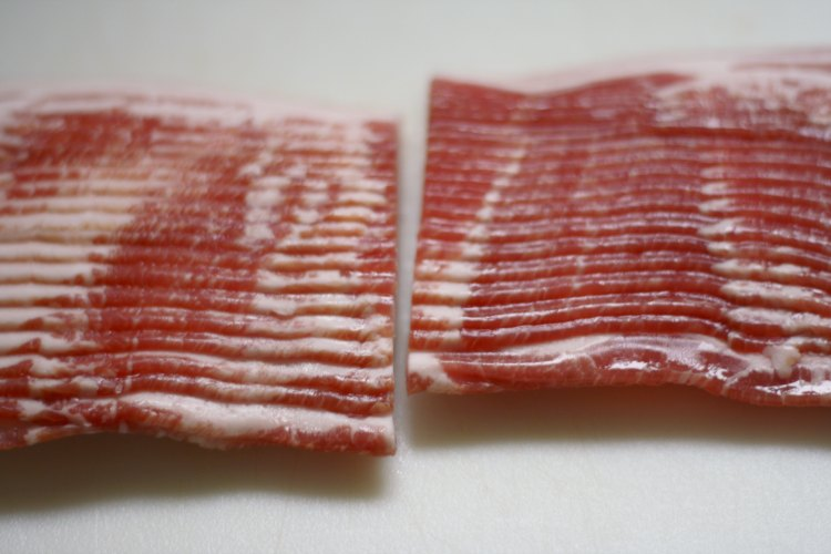 cut bacon crosswise
