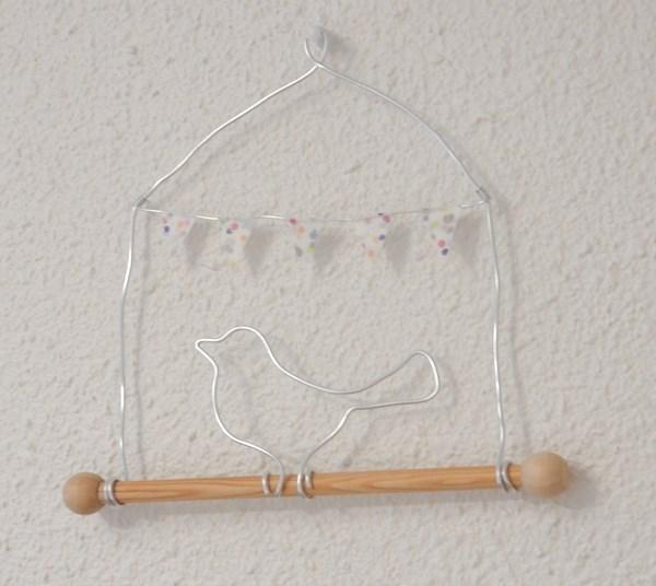 DIY : oiseau en fil d'aluminium