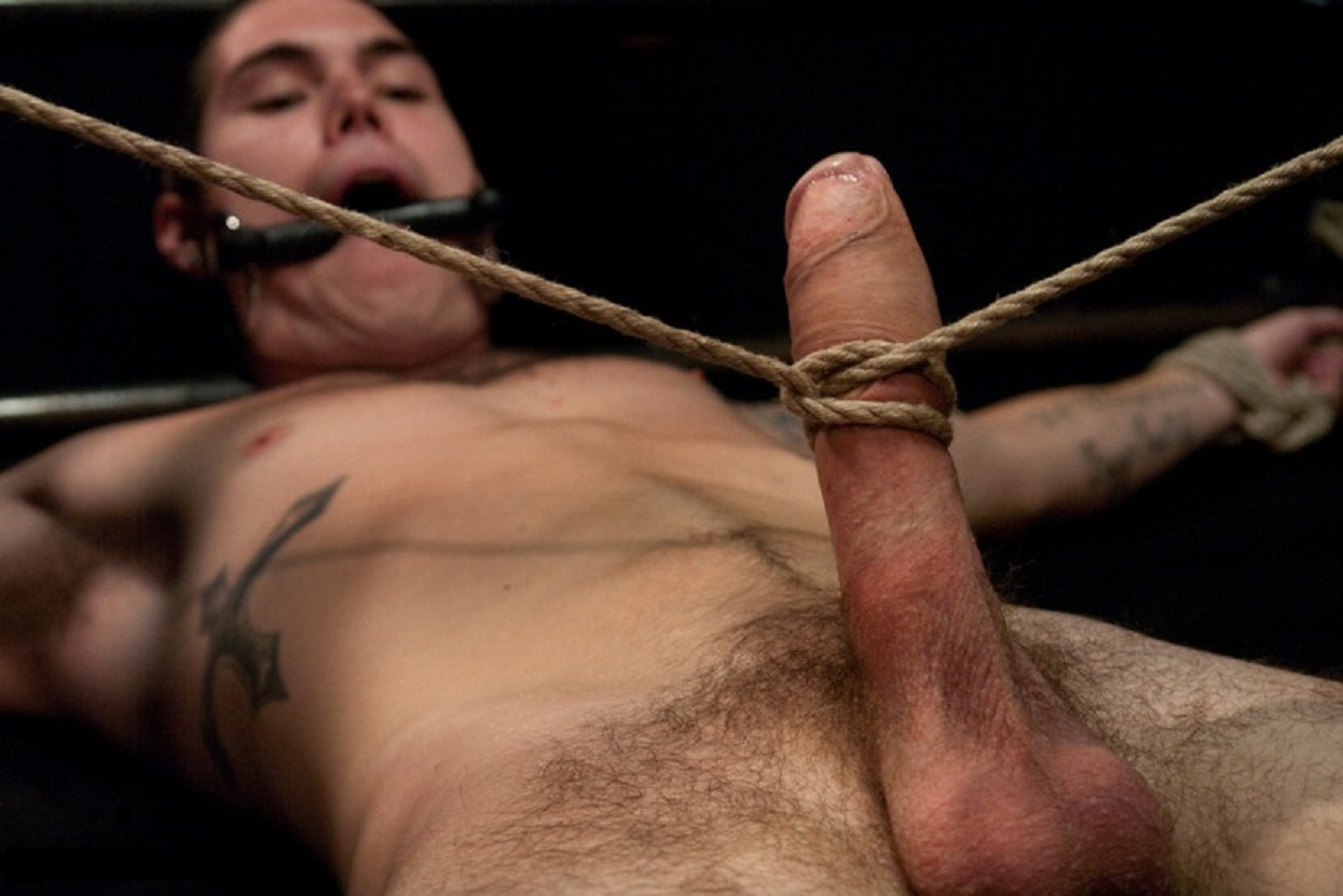 Femdom Cock And Balls Tied Up