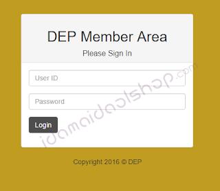 login member area