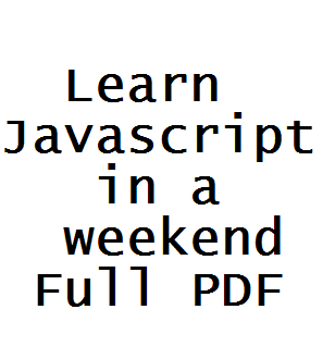 Learn javascript in a weekend full pdf free download