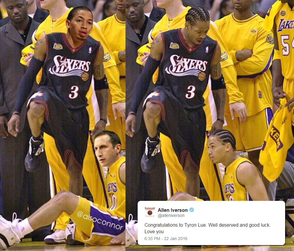 Allen Iverson infamous step over of Cavs coach Tyronn Lue was 15  - allen iverson tyronn lue