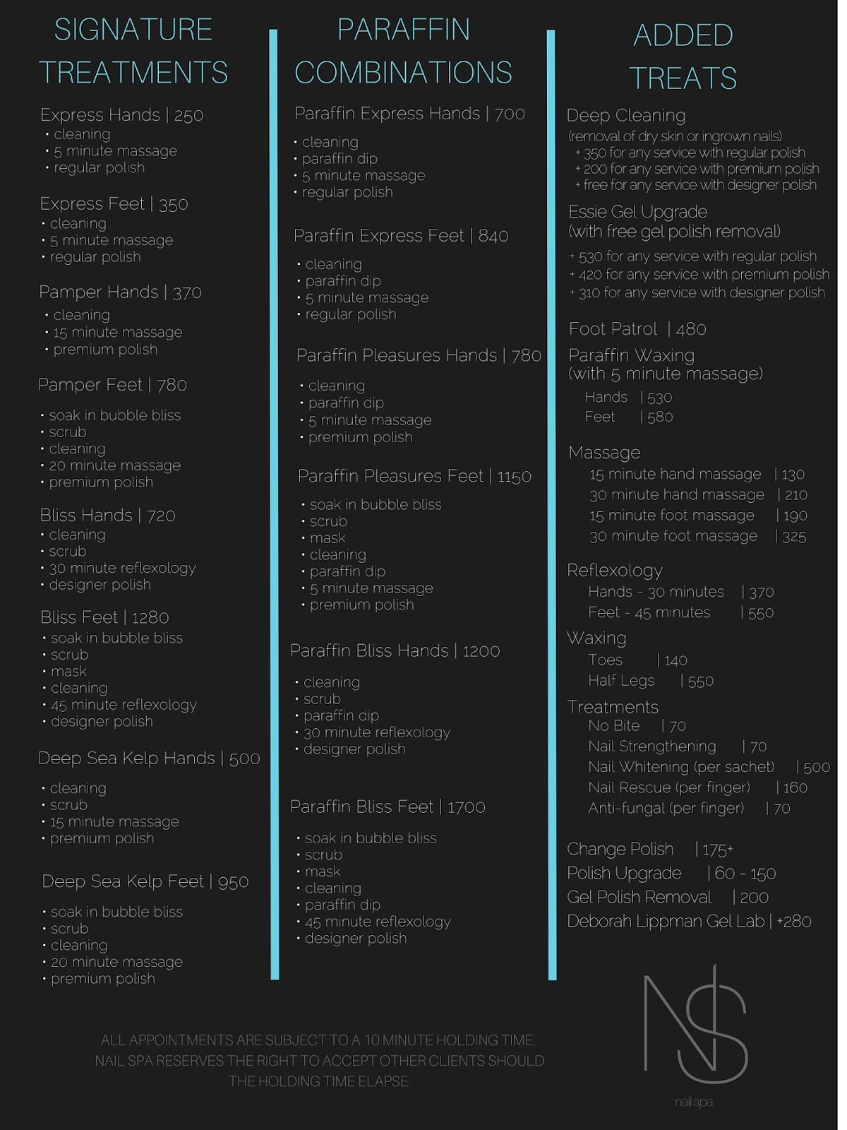 Nail Spa Makati Price List