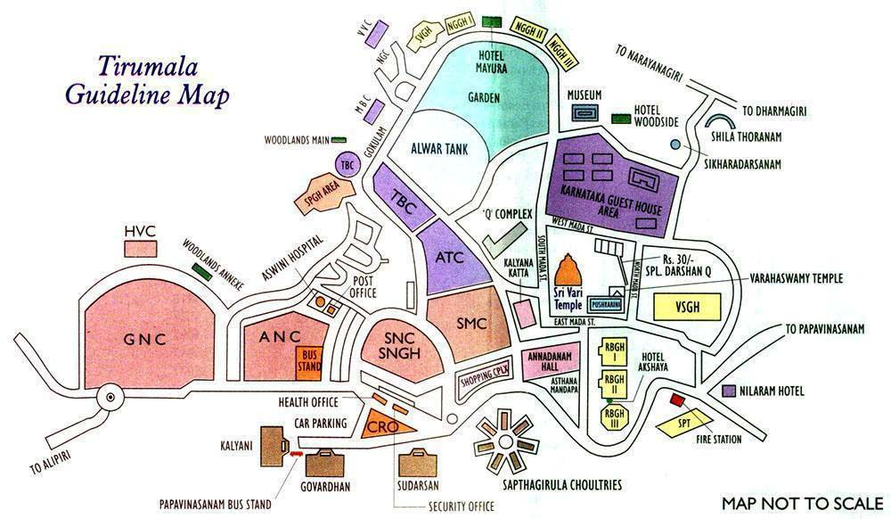 Rooms: More Visiting Places& Temple In Tirumala Map