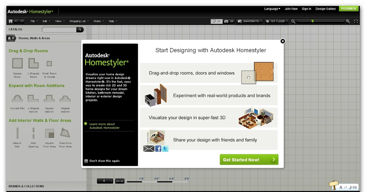 Autodesk Homestyler, Design Your Own Future House