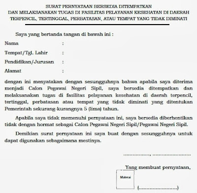 Contoh Surat Pernyataan Skripsi Download Contoh Surat Contoh Surat Pernyataan Bersedia Ditempatkan Dan Melaksanakan Tugas