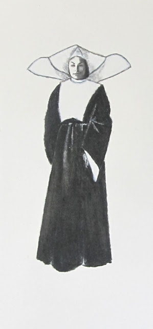 Sister Mary Malbec, a drawing of a nun by F. Lennox Campello 2012