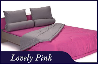 Sprei & Bedcover Shyra Polos - Lovely Pink