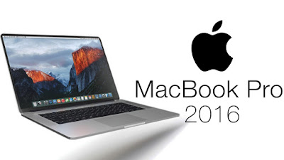foto del macbook pro 2016 con el logo de apple