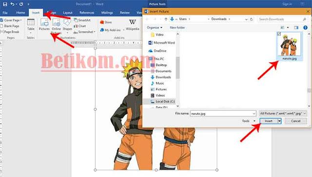 Menghilangkan Background putih pada gambar Menggunakan Microsoft Word