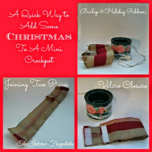Festive Mini Crockpot Cover Tutorial