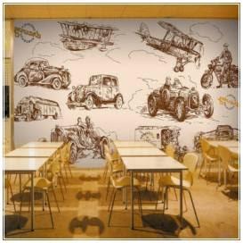 desain interior cafe klasik yang menarik