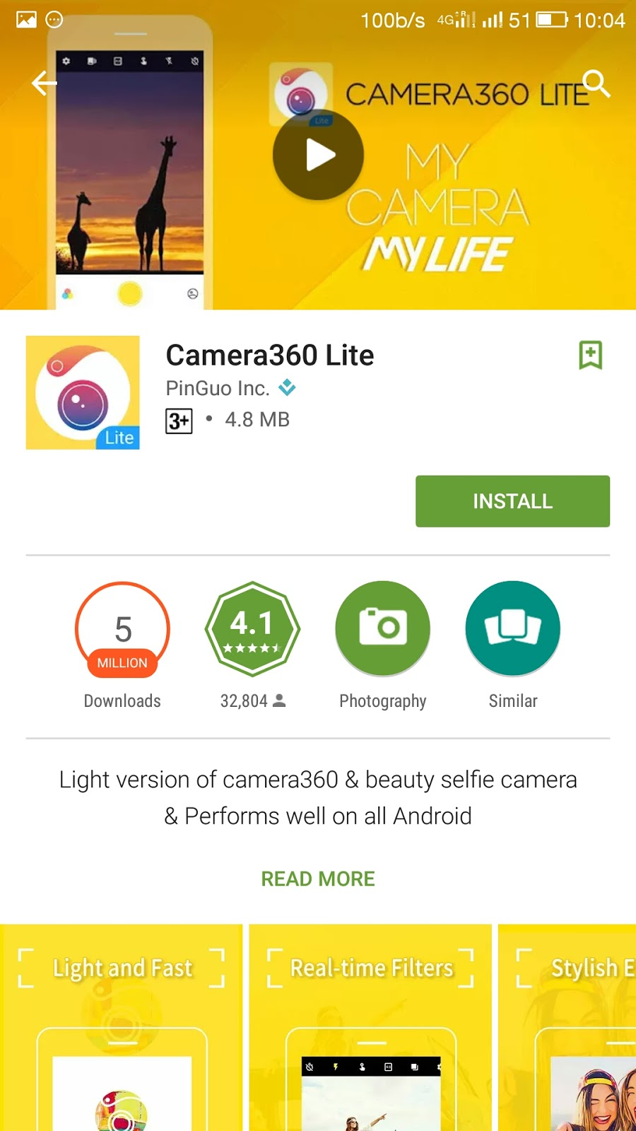 Camera 360 Lite Download From Play Store New Update Nrtrickhub