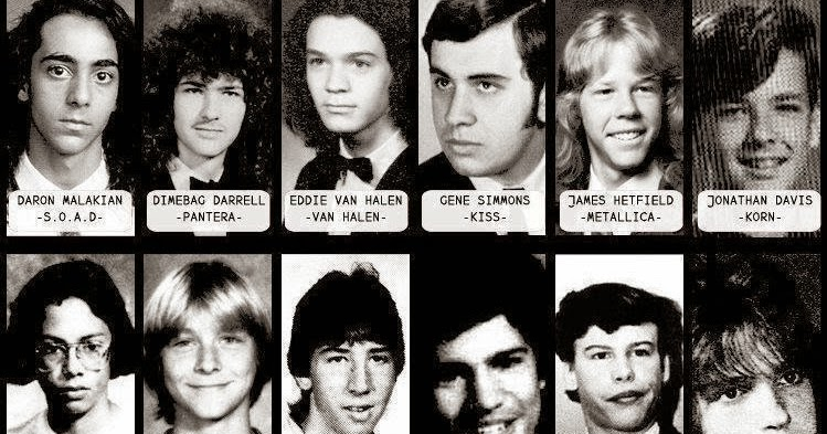 yearbook photos of rock and heavy metal icons vintage everyday