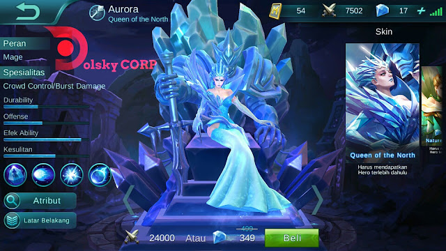 Hero Aurora ( Ratu Dari Utara ) Attack Damage Build Set up Gear