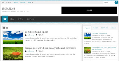 JPStation Blogger Template