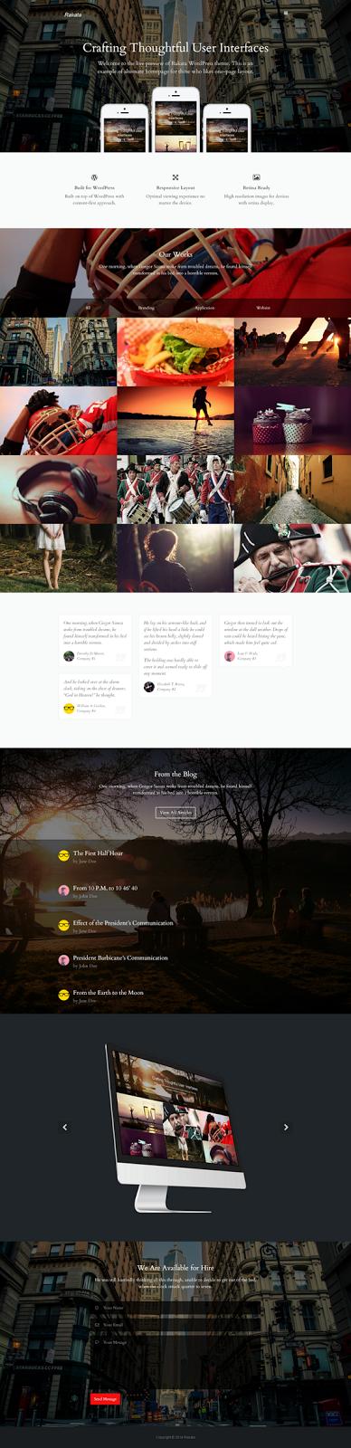free Minimal Blog and Portfolio Theme