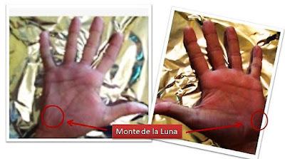 Monte de La Lunas en ambas manos