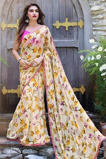 floral_print_georgette_saree_nepal