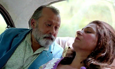 "Pankaj Kapur as Don Pedro Cleto Colaco and Dimple Kapadia as Rosalina ""Rosie"" Eucharistica in Finding Fanny, Directed by Homi Adajania"