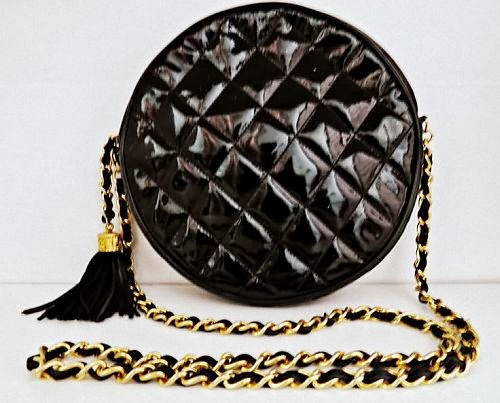 Chanel black round-shape bag