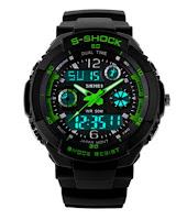 Skmei Fashionable Waterproof Electronic Sports Watch for Men Dual Display