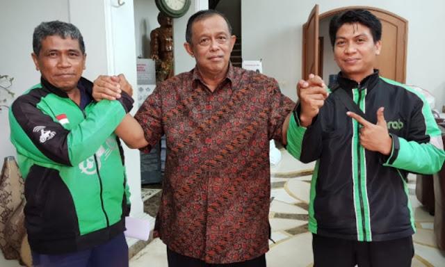 Sejumlah Driver Ojol Nyatakan Dukung Prabowo-Sandi di Pilpres 2019