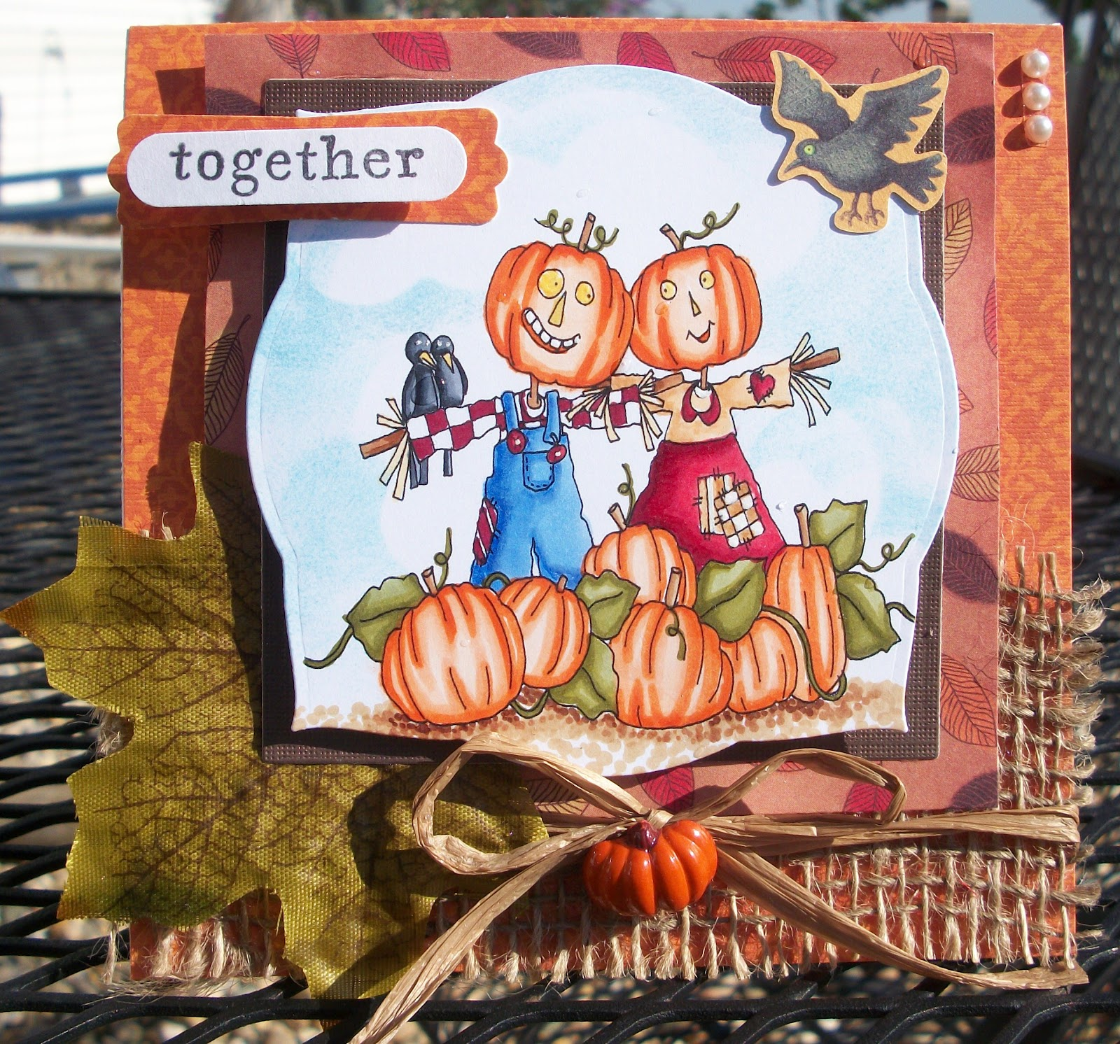 For the Love of Cardmaking: Happy Anniversary Scarecrow Couple