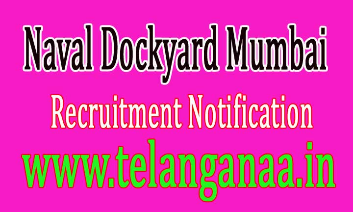 Naval Dockyard Mumbai Recruitment Notification 2016