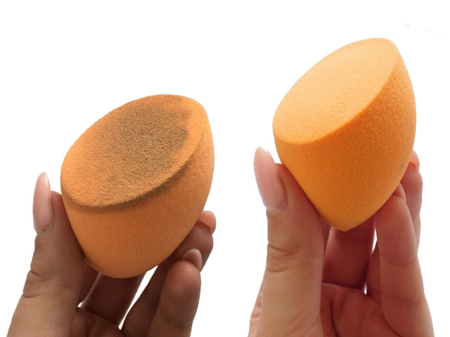 Real Techniques Sponge Before and After Washing, How To Wash Your Makeup Sponges