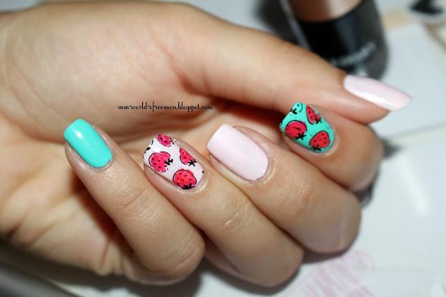 Truskawkowy manicure z NICOLE DIARY