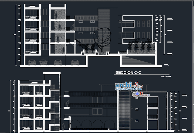 HOUSING BUILDING Arequipa in AutoCAD