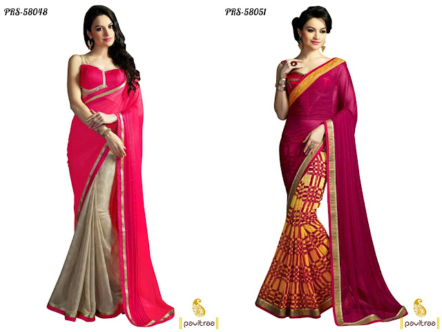 Latest top party wear sarees 2016 online shopping at lowest prices