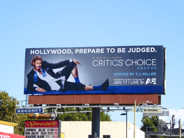 TJ Miller Critics Choice Awards 2016 billboard