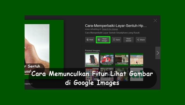 Cara Memunculkan Fitur Lihat Gambar di Google Images