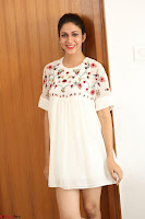 Lavanya Tripathi in Summer Style Spicy Short White Dress at her Interview  Exclusive 234.JPG