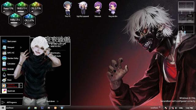 Tokyo Ghoul Theme Win 8/8.1 by Enji Riz Lazuardi