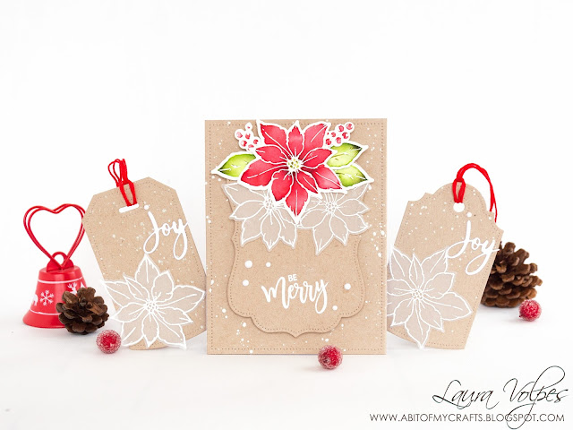 christmas-card-and-tags-kraft-studio-katia-merry-poinsettias