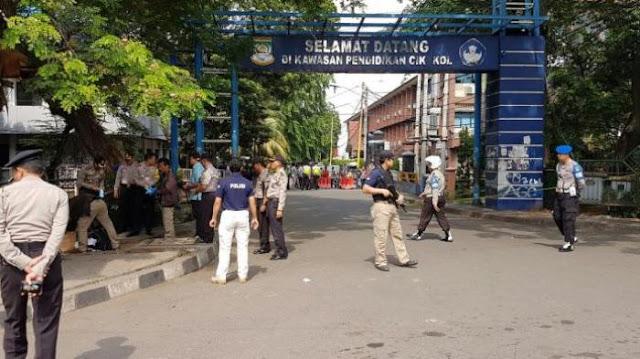 Tim Gegana Amankan Lokasi Penyerangan Pos Polisi di Tangerang