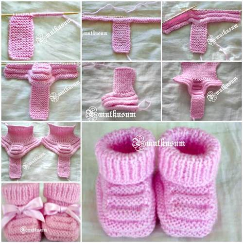 Ergahandmade Knit Baby Booties Free Pattern Step By Step