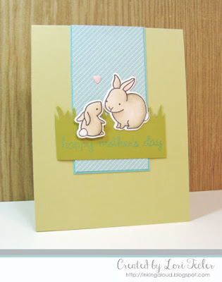 Happy Mother's Day card-designed by Lori Tecler/Inking Aloud-stamps and dies from Lawn Fawn
