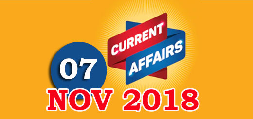 Kerala PSC Daily Malayalam Current Affairs 07 Nov 2018