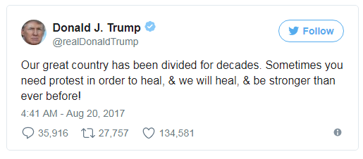 It was far too long that we hadn't had an error from one of the numerous questionable tweets from US President Donald Trump