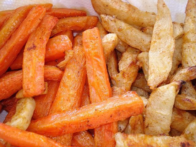 Paprika Roasted Celeriac and Carrots
