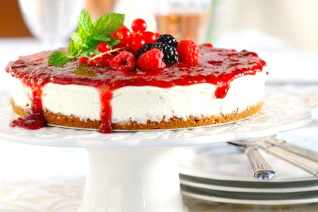 No bake Berries cheesecake recipe