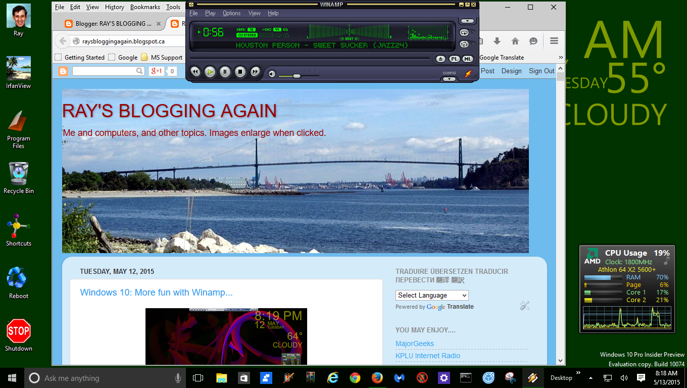 RAY'S BLOGGING AGAIN !: Windows 10: Winamp with another skin