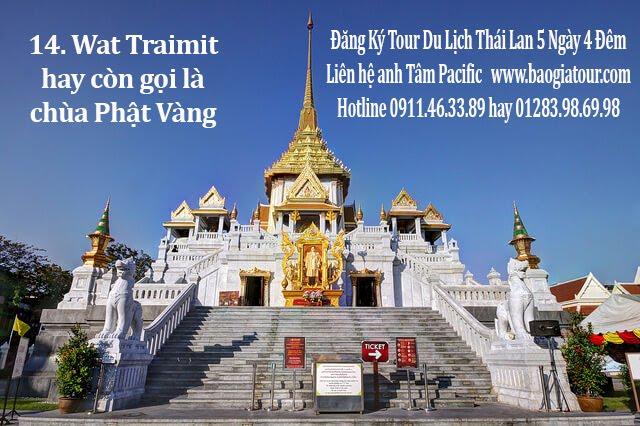 14. Wat Traimit hay còn gọi là chùa Phật Vàng