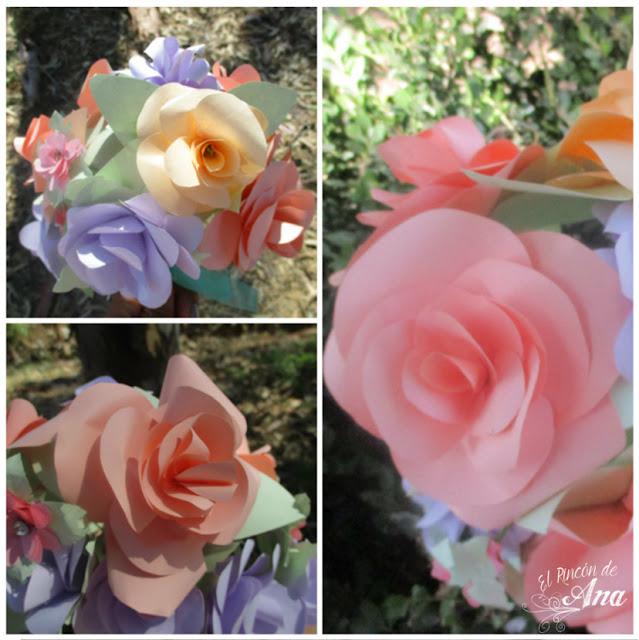 Ramo de flores de papel