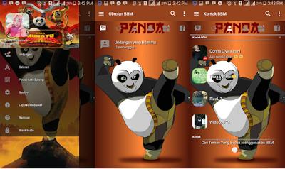 BBM Transparan Tema Kungfu Panda v3.2.0.6 APK Update