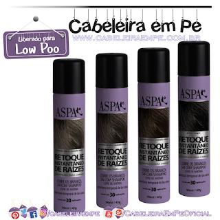 Retoque Instantâneo De Raízes (Preto e Castanhos Claro, Médio e Escuro) - Aspa (Low Poo)